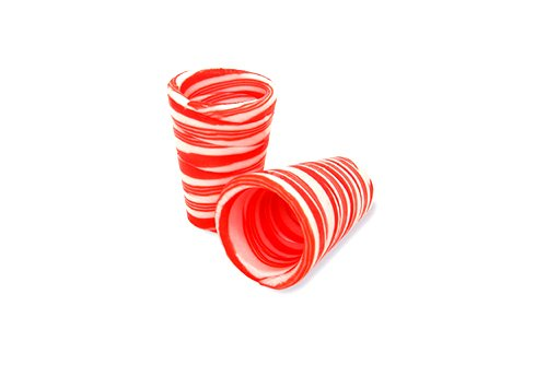 peppermint candy cane shot glasses
