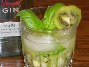 Kiwi Basil Gin Cocktail