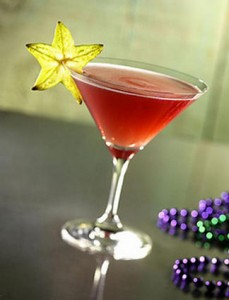 Mardi Gras Cocktail