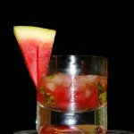 super skinny watermelon salsa cocktail