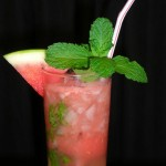 skinny watermelon mojito cocktail