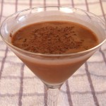 skinny chocolate martini cocktail
