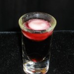 Sherbet Shot shooter Chambord with Lemon