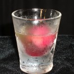 Sherbet Shot - Limoncello with Pomegranite Sherbet