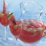 watermelon lemonade punch mocktail