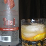 orange diamond mixed drink cocktail