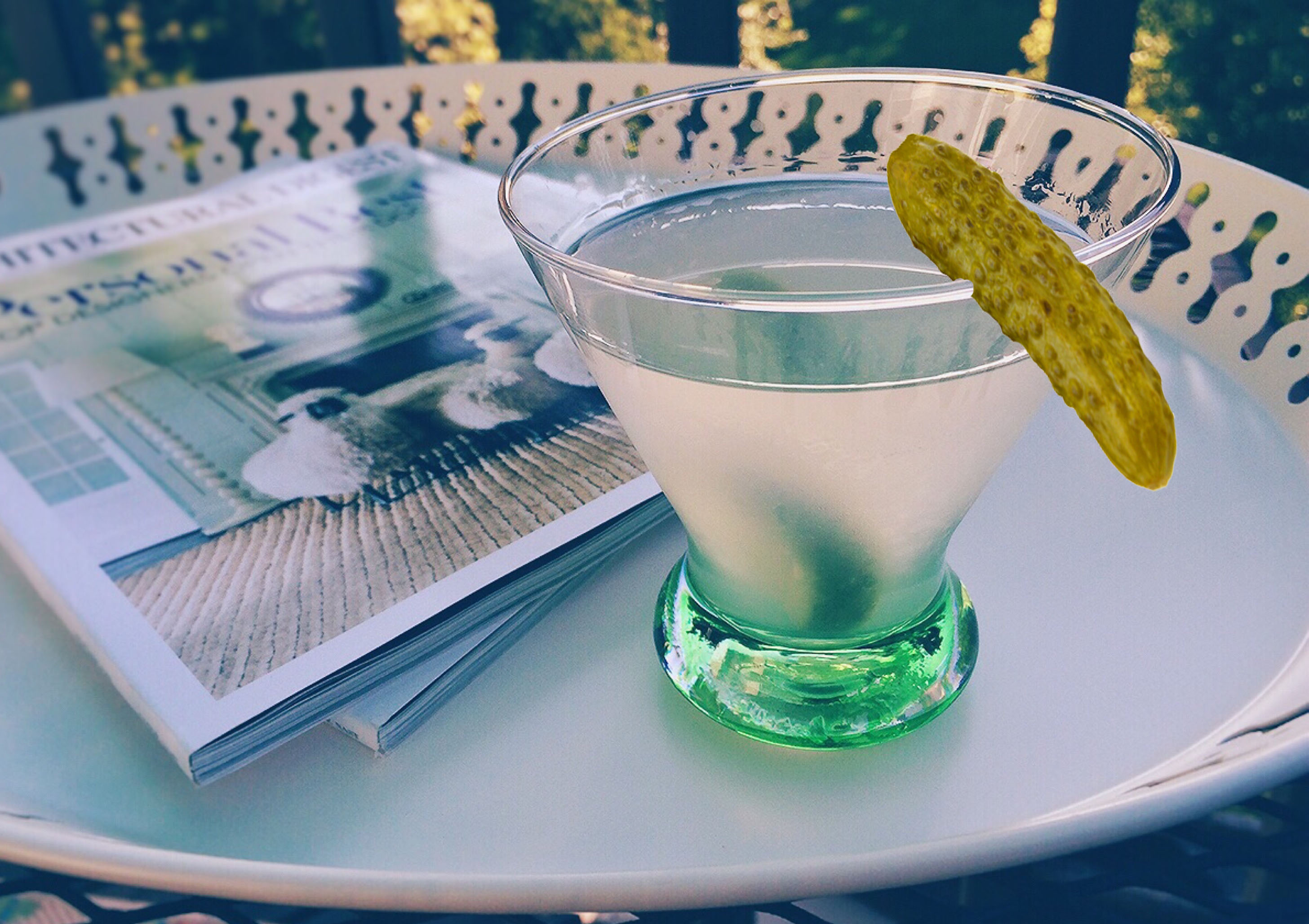 Dirty Pickle Martini